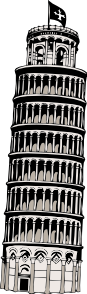 free vector Leaning Tower Of Pisa clip art
