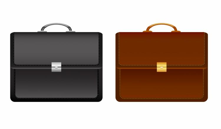 free vector Leather brief case