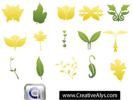 free vector Leaves for Logo Designs