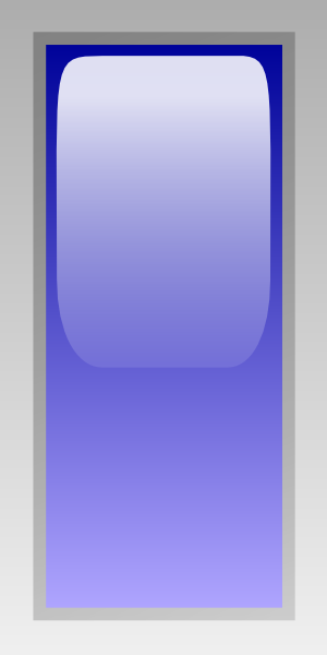 free vector Led Rectangular V (blue) clip art