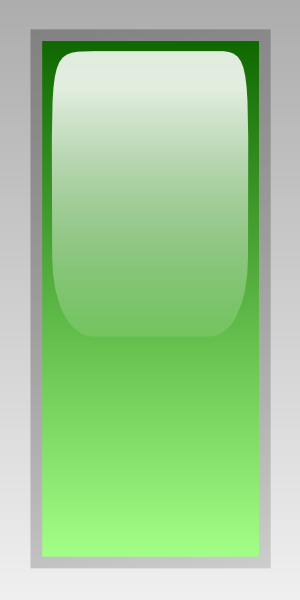 free vector Led Rectangular V (green) clip art