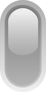 free vector Led Rounded V (grey) clip art