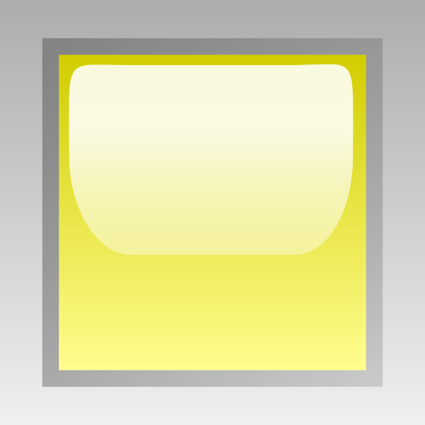 free vector Led Square (yellow) clip art