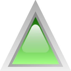 free vector Led Triangular 1 (green) clip art