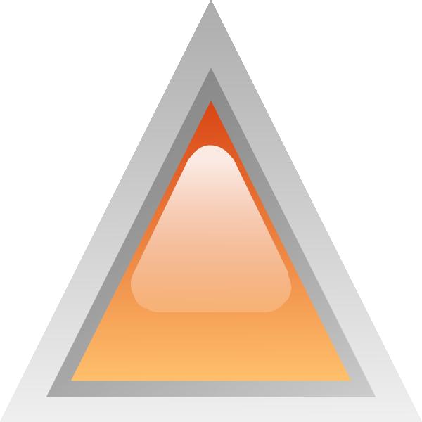 free vector Led Triangular 1 (orange) clip art