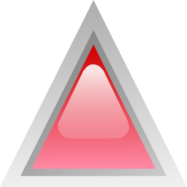 free vector Led Triangular 1 (red) clip art