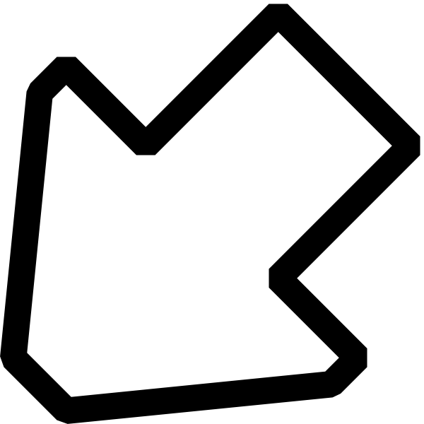 free vector Left Down Outline Arrow clip art