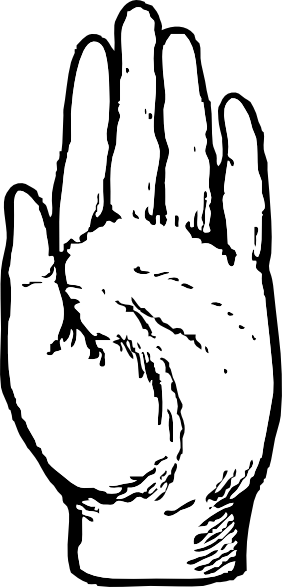 Left Hand clip art Free Vector / 4Vector