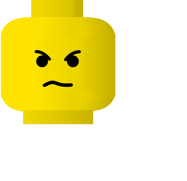 free vector Lego Smiley Angry clip art