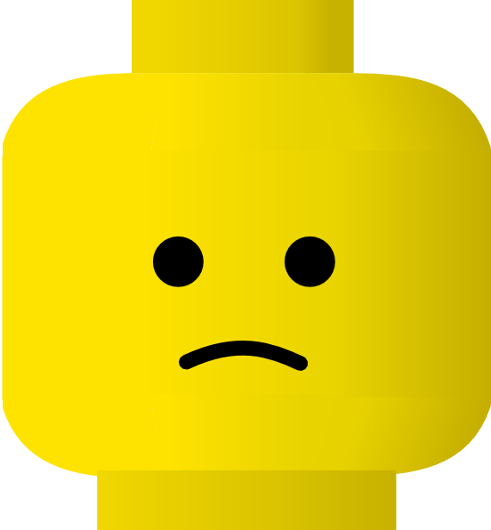free vector Lego Smiley Sad clip art