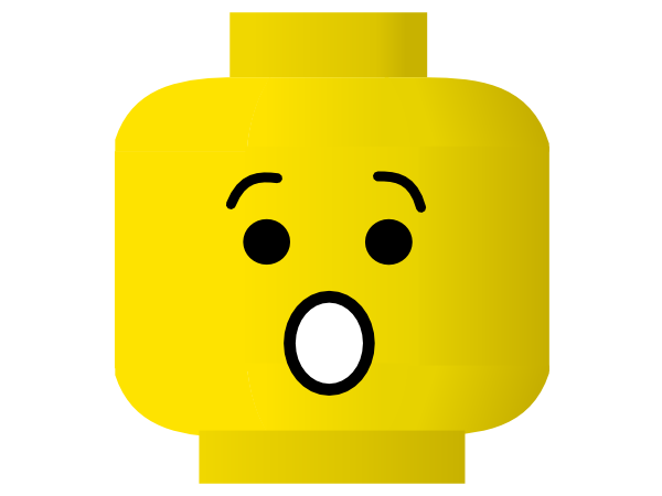 Lego Smiley Shocked clip art Free Vector / 4Vector