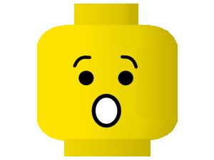 free vector Lego Smiley Shocked clip art
