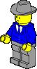 free vector Lego Town Businessman clip art