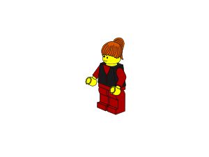 free vector Lego Town Businesswoman clip art