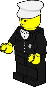 free vector Lego Town Policeman clip art