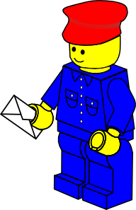 free vector Lego Town Postman clip art