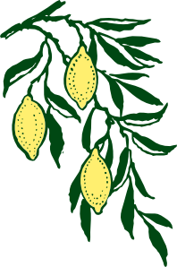 free vector Lemon Branch clip art