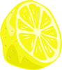 free vector Lemon (half) clip art