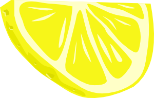 Lemon (half Slice) clip art Free Vector / 4Vector