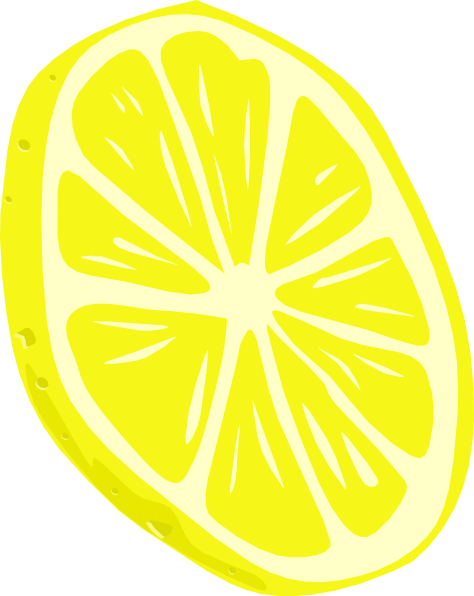 free vector Lemon (slice) clip art
