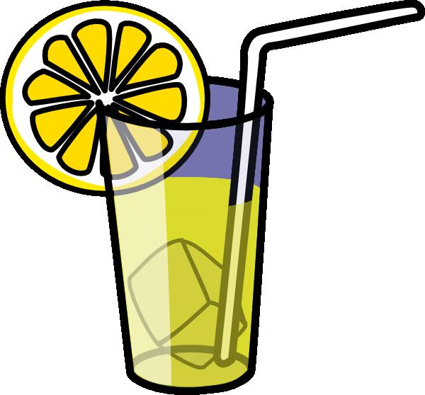 free vector Lemonade Glass clip art