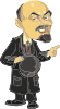 free vector Lenin Caricature clip art