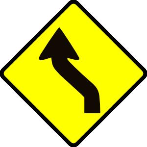 free vector Leomarc Cautio Curve In Road clip art
