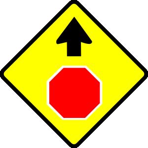 free vector Leomarc Caution Stop Sign clip art