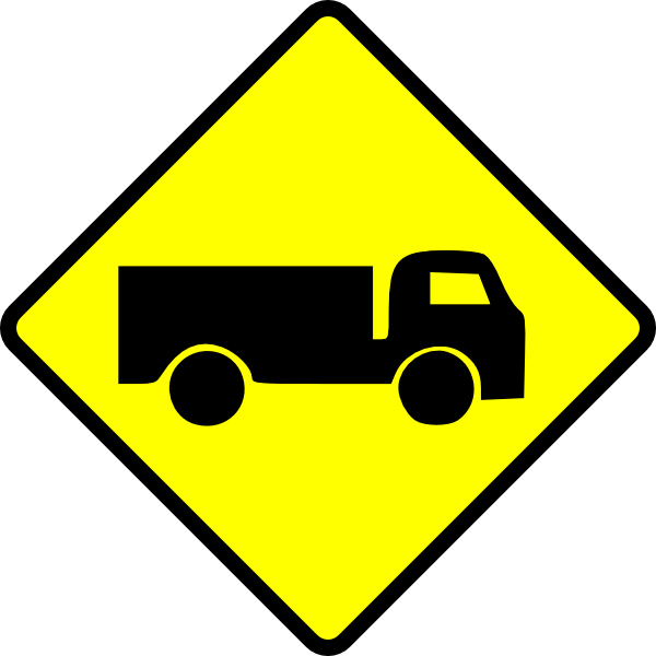 free vector Leomarc Caution Truck clip art