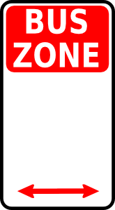 free vector Leomarc Sign Bus Zone clip art