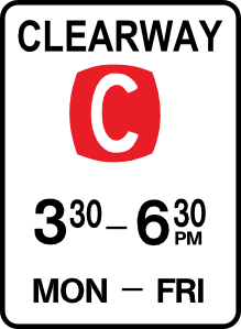 free vector Leomarc Sign Clearway clip art