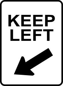 free vector Leomarc Sign Keep Left clip art