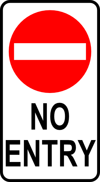 free vector Leomarc Sign No Entry clip art