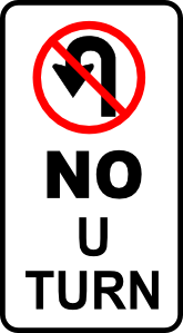 free vector Leomarc Sign No U Turn clip art