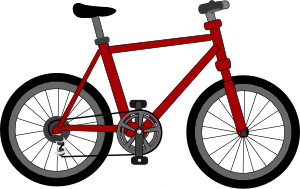 free vector Lescinqailes Bicycle clip art