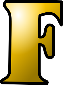 free vector Letter F Icon clip art