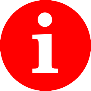 free vector Letter I In A Red Circle clip art