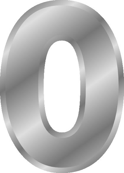 free vector Letters Alphabet O Silver clip art