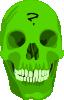 free vector Liakad Green Skull clip art