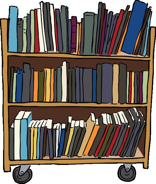 free vector Library Book Cart clip art