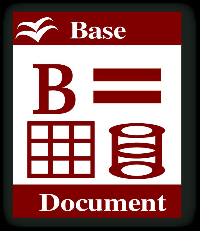 free vector Libre Office Base icon