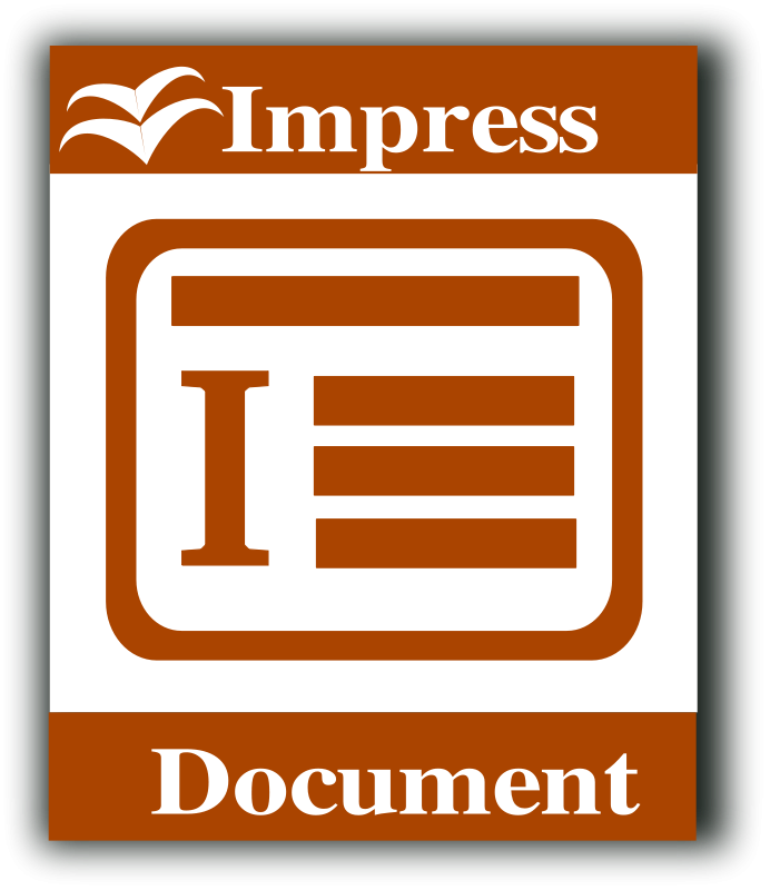 libre office impress icon free vector    4vector
