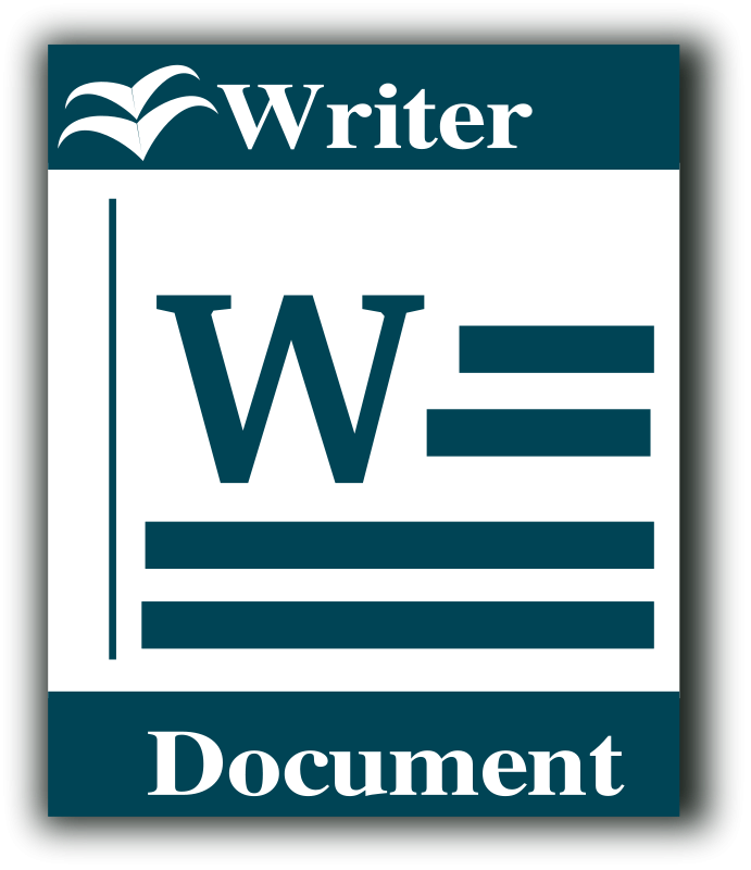 free vector Libre Office writer icon
