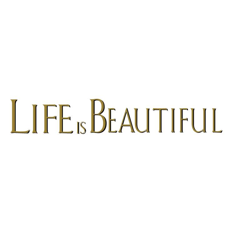 life is beautiful free vector 4vector. Black Bedroom Furniture Sets. Home Design Ideas