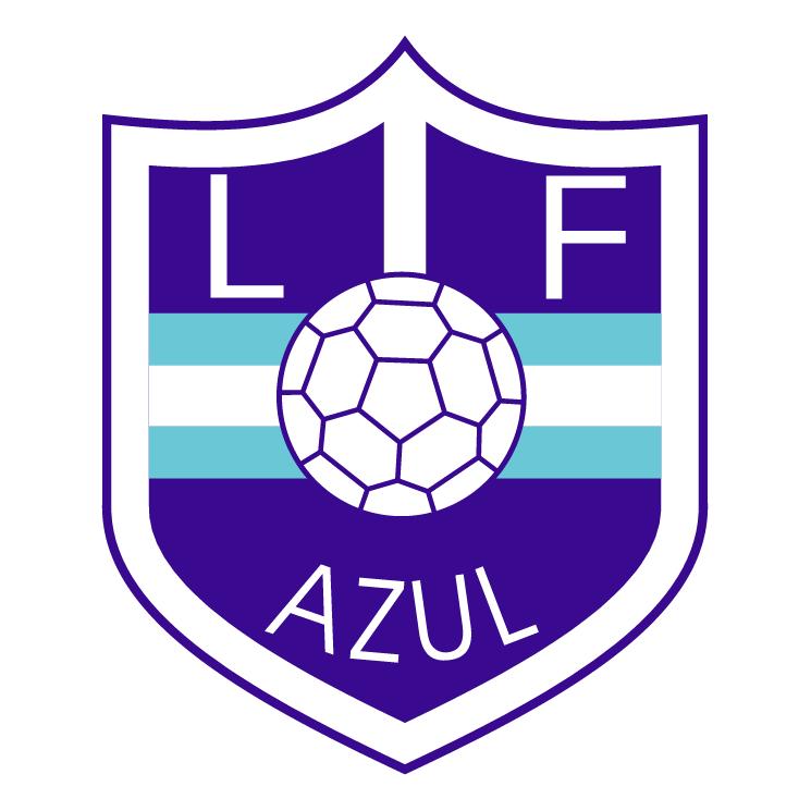 free vector Liga de futbol de azul