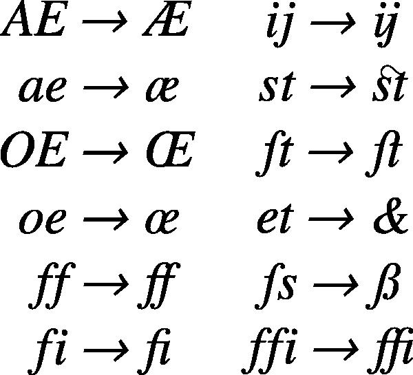 free vector Ligatures clip art