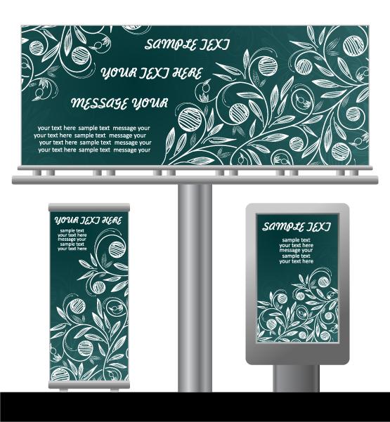free vector Light box billboards template design vector 2