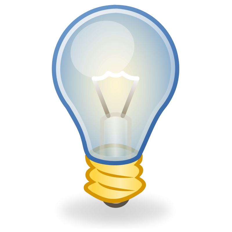 free vector Light bulb icon