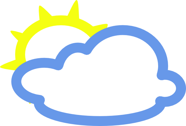 free vector Light Clouds And Sun Weather Symbol clip art