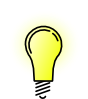 free vector Lightbulb-brightlit clip art